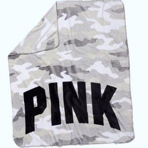 PINK camo blanket
